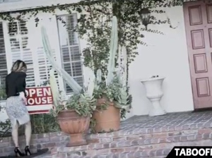 Young real estate agent fucks creepy customer to sell the house