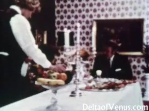Vintage Porn 1960s  Hairy Mature Brunette  Table For Three