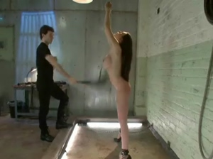 Busty redhead gets spanked and fucked in violent submission sex in extreme ways
