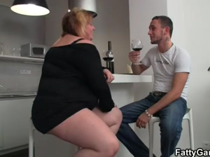 Horny BBW takes it from behind
