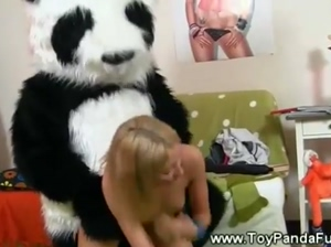 Teen girls sexual play with her toypanda