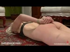 Spanking and domination on bondage girl