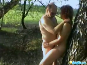 Olya's Outdoor sex tape