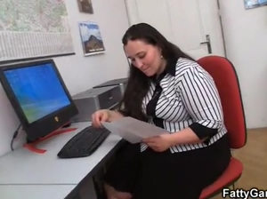 Office fatty seduces hot guy