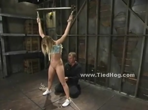 Blonde tied humiliated and disgraced