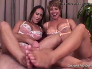 Goddess Brianna and Trina Michaels  Teased &ampamp Milked
