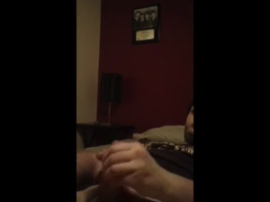 Hot 19 year old guy masturbating on his bed