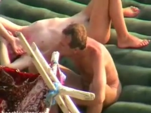 Young hot horny  couple  did it on the beach   and everyone was watching at their multiple orgasm op