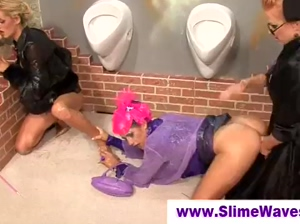 Glory hole wet and messy slime shower