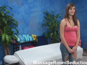Hot amateur seduced in massage room