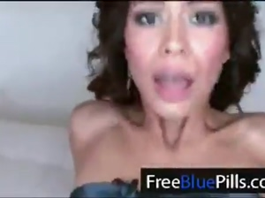 tight latina cunt gets ridden hard and sucking cock