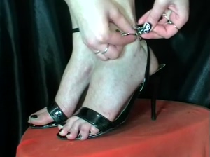 Sexy shoes footjob
