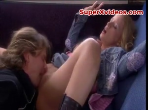 blonde babe fucked in the bus