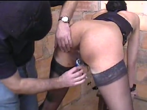 French Black Skinny Slave being fucked in the ass