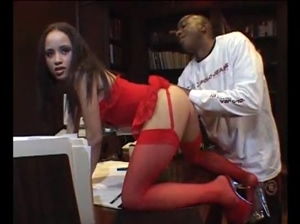 Simone Claire Vs Mandingo Blowjob