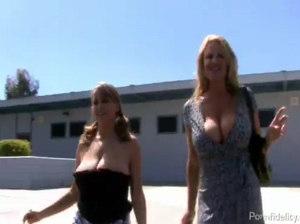 Lucky Guy Bangs Two Big Titted Hot Babes