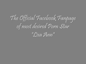 Lisa Ann (Porn Star) Official Facebook Fan Page  YouTube