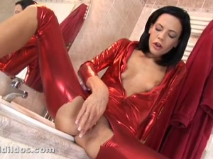 Aliz   multiple thick brutal dildos stretch her tight wet asshole out!