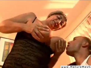 Old grayhaired bitch is an analwhore