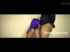 Ebony College Student Gives Handjob