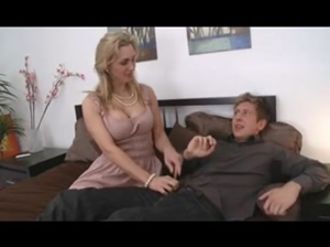 milfsonly.blogspot.comBusty Mom With Young Boy In Bedroom