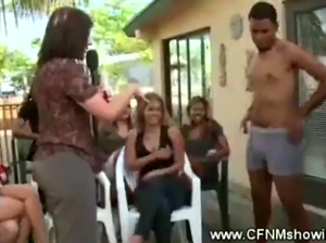 Horny ladies with naked men