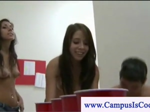 Student loses drinking game and sucks