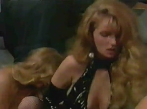 Four lesbians latex and two voyeurs in a sex scene (classic)