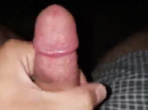 Jerking my small cock on my patio at night